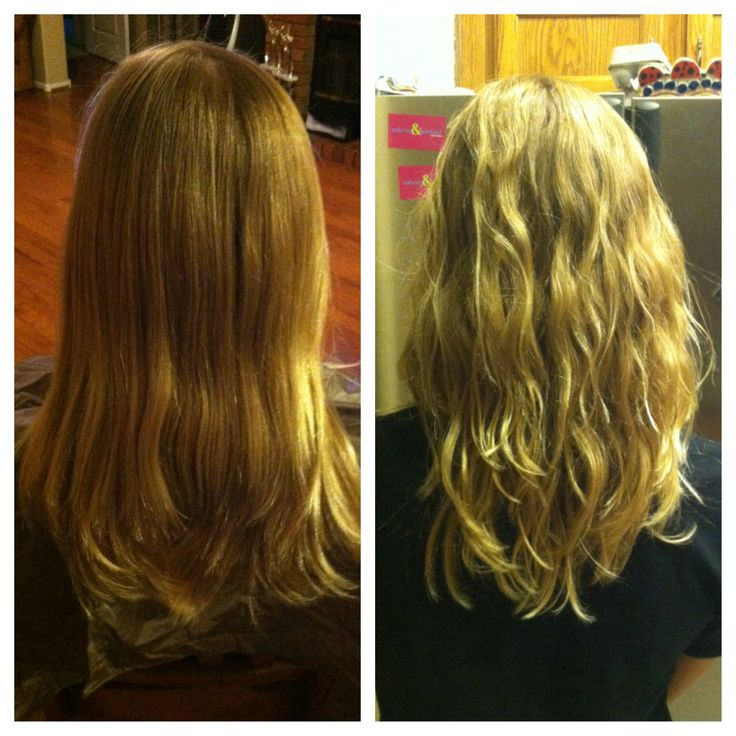 wave perm before and after