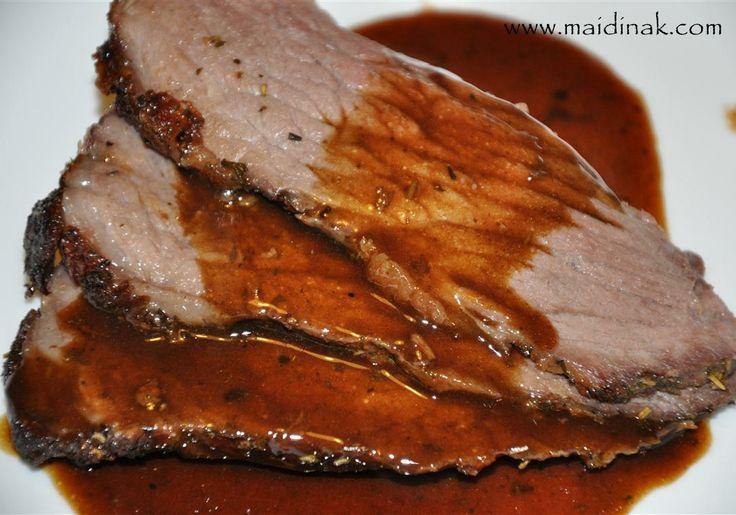 Garlic Crusted Roast Beef Recipe — Dishmaps