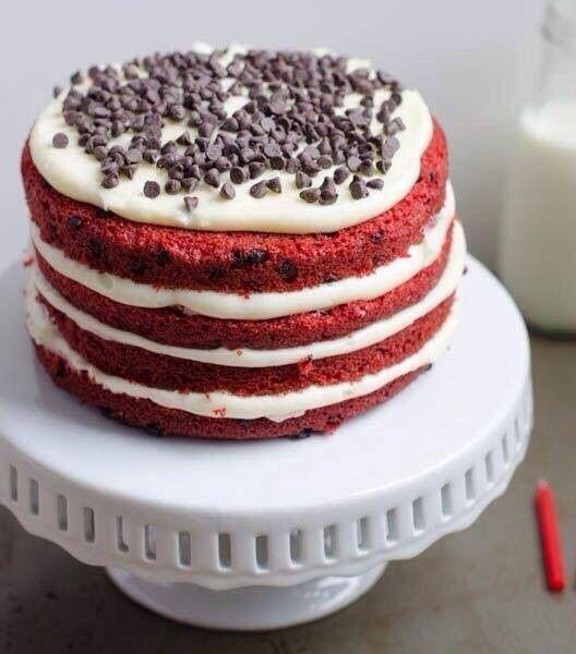 Chocolate chip red velvet cake | Cakes & cupcakes | Pinterest
