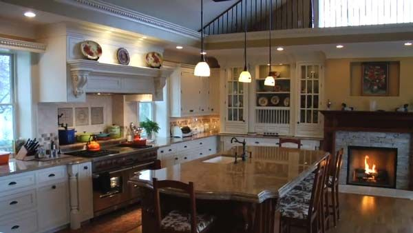Fireplace In Kitchen Dream Home Kitchens Pinterest