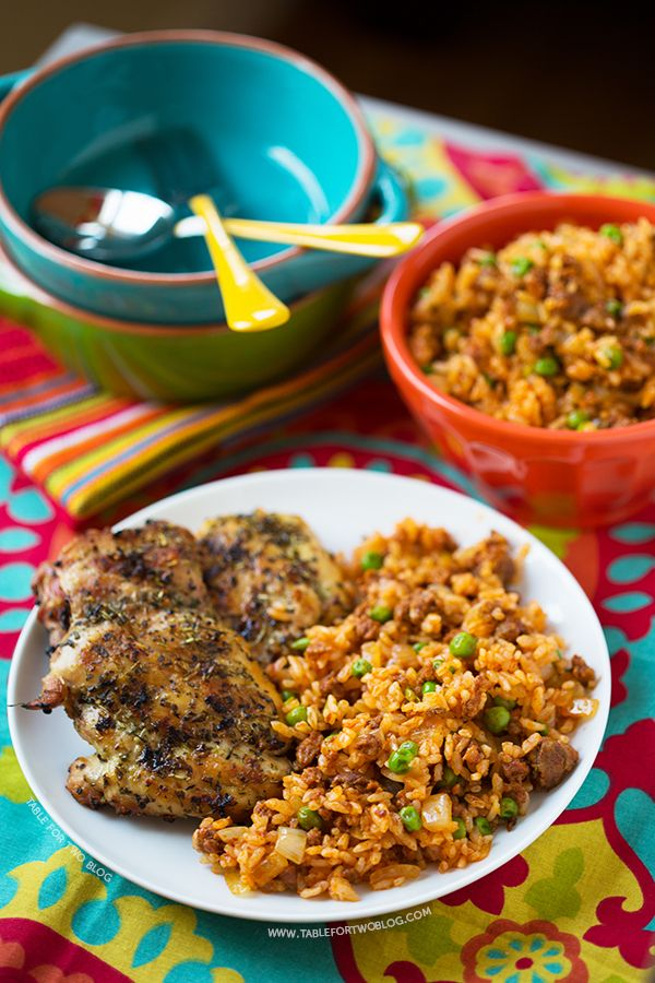 Cuban-Spiced Chicken Thighs With Chorizo And Rice Recipe — Dishmaps