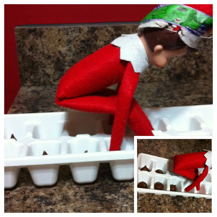elf on the shelf pooping hershey 39 s kisses into an ice