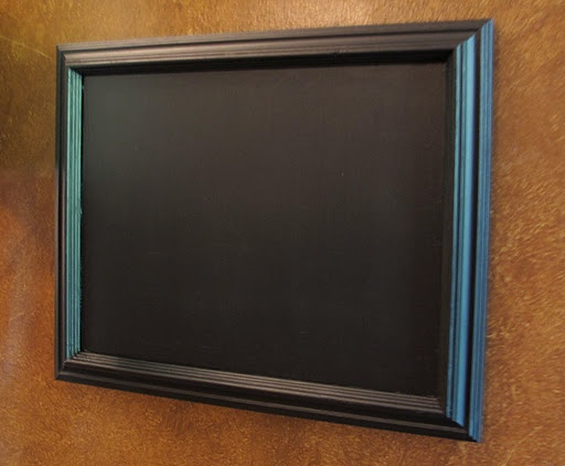 paint glass in frame with chalkboard paint might even try