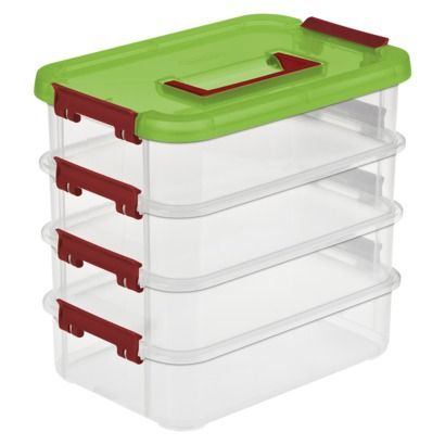 As for storing at the house I dig these (also from Target) - you can pretty much fit a whole set in them (can get a bit crowded though) and they stack ...  sc 1 st  HCRealms.com & Best carrying case for clix? - HeroClix Realms Aboutintivar.Com
