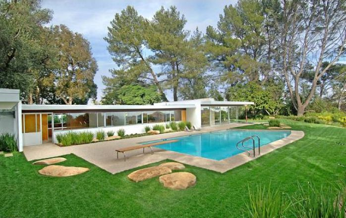 Ranch Homes Landscaping Additionally Mid Century Modern House Plans