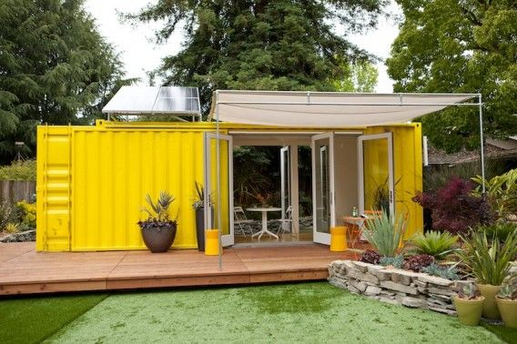 A tiny living space of 192 square-feet, though there's room to sleep up to four. It's also solar-powered and ultra-modern.