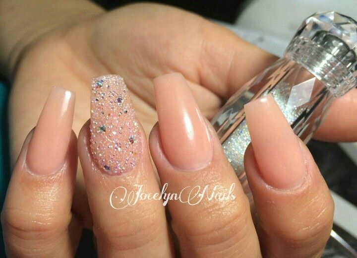 Stiletto Pointy Almond Pretty Sugar Swarvoski Crystal Pixie Dust Ombre Swarovski Crystals