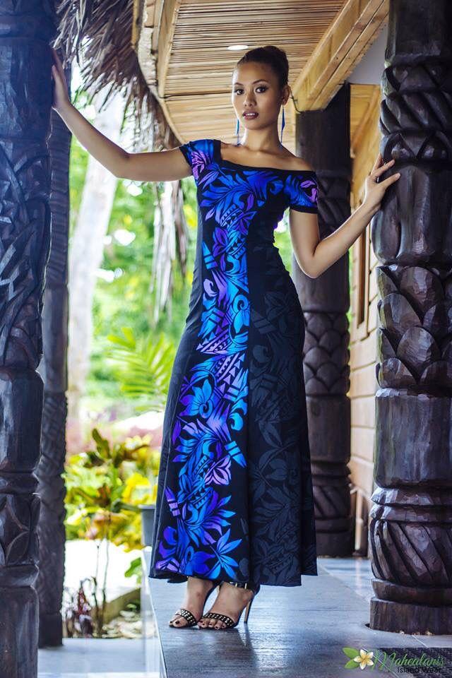 Samoan Girl In Samoan Puletasi Beautiful Pinterest
