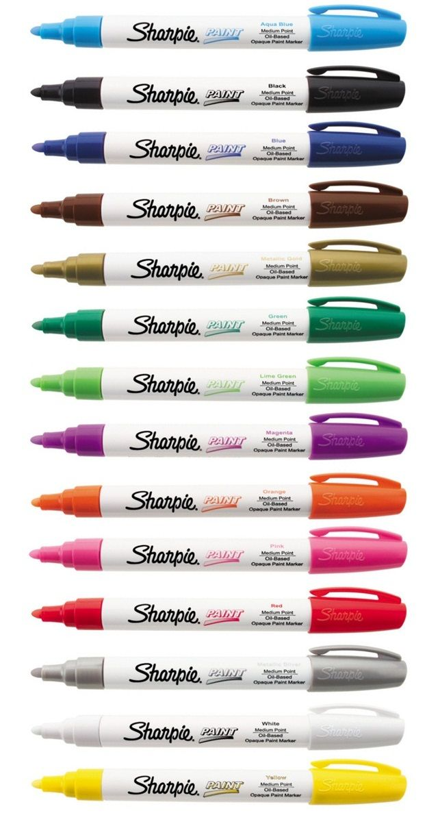 Sharpie Paint Marker Black Extra Fine Tip Pen Oil Based Most Surfaces