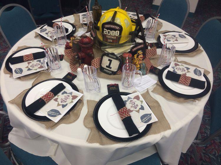 Firefighter Themed Centerpiece | Wedding Centerpieces ...