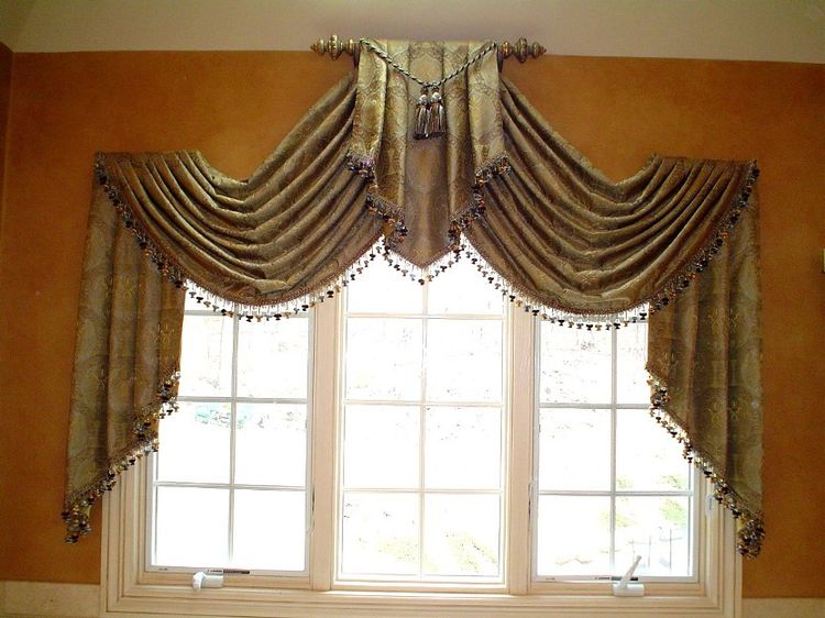 1000 images about swags cascades and jabots on pinterest for Custom window design
