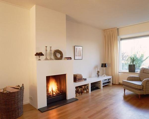 Karwei houtkachel veron wooninspiratie woonkamer karwei karwei woonkamer idee n pinterest - Open haard moderne ...