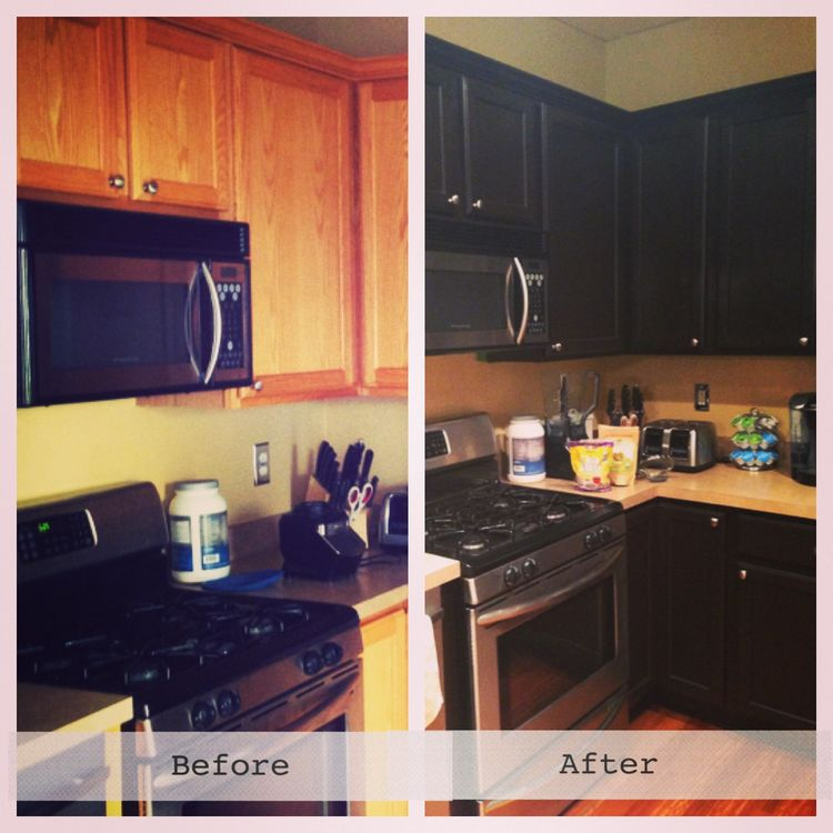 Gel stains stained kitchen cabinets and kitchen cabinets for Can i stain my kitchen cabinets darker