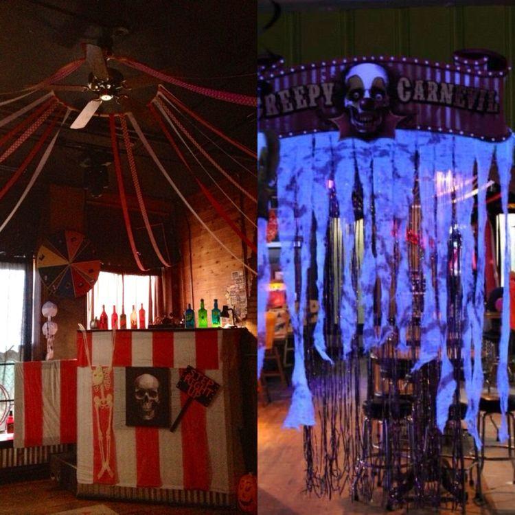 Halloween cubicle cubicles and halloween on pinterest for Halloween dance floor ideas