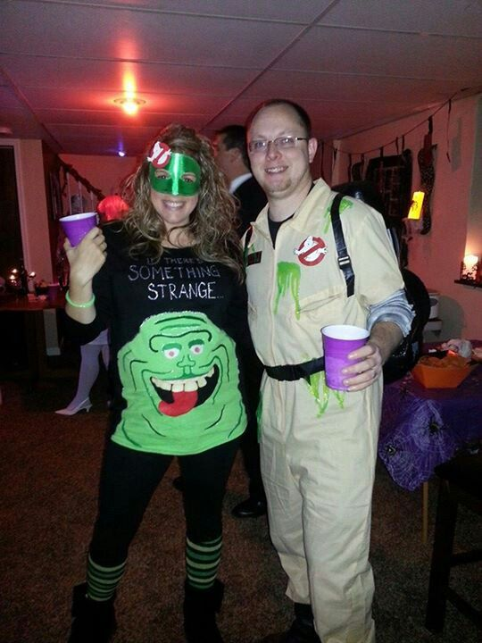 Awesome Homemade Slimer Costume from Ghostbusters halloween - grown up halloween costume ideas