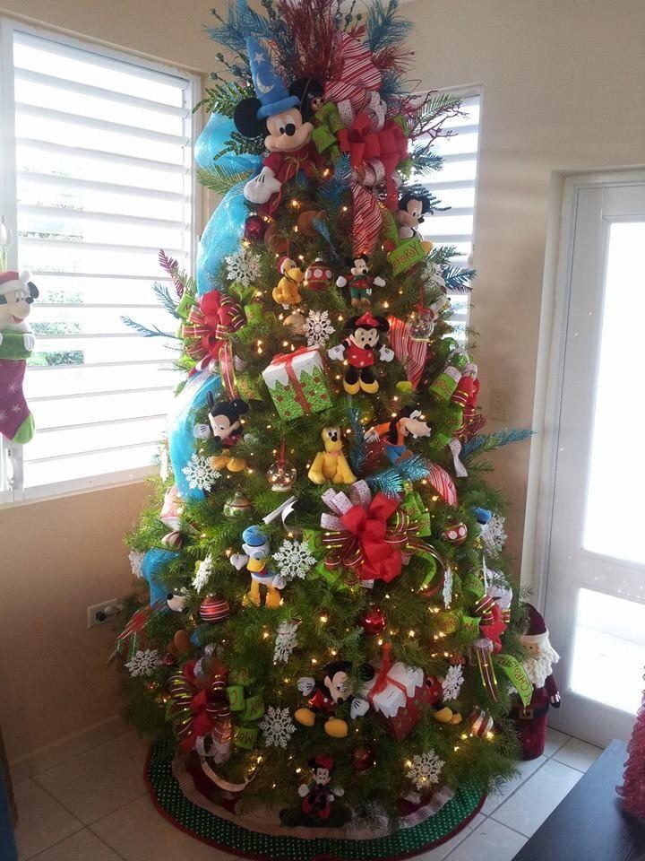 Disney christmas tree christmas mickey mouse minnie - Arbol de navidad blanco decorado ...