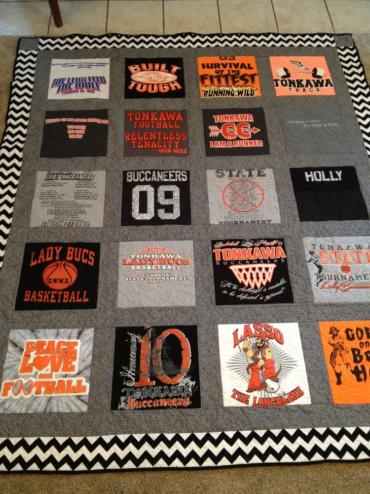 Memory T Shirt Quilt Great High School Graduation Gift I