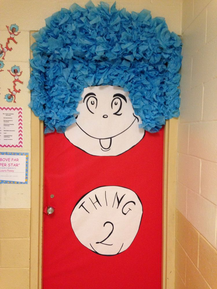 The Cat In The Hat Classroom Door How I Need This First Week Of School Pinterest