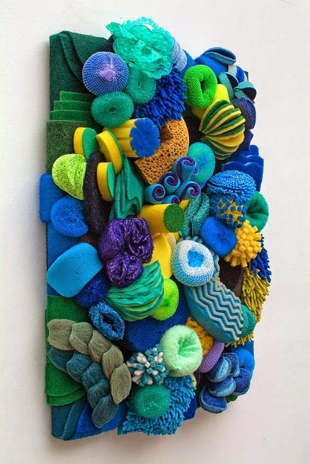 Fantastic Coral Reef Sculptures Made out of Household Objects…ok, this is just fun for a laundry room...