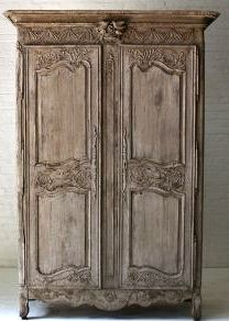 French Antique Mid 19th Century Armoire In Bleached Oak | Modern Wardrobe,  French Antiques And Furniture Storage
