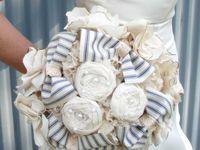 Fabric flowers/ brooch bouquet