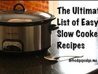 I love simple, few ingredients and slow cooker. More recipes at http://hodgepodge.me/tag/slow-cooker/