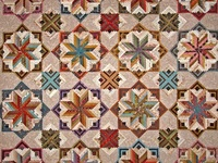 Log cabin quilts and variations