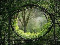 Garden gates, fences, walls, trellises, edgings and paths