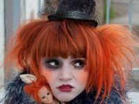 clowns, harlequins, carnival...