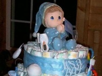 Baby Shower Diaper Cakes & Wreaths