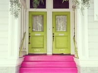 Doors, intriguing, inviting. I love them in all shapes and colours. Just divine crumbling old ones, or, new modern ones with planters next to them. Come on in! You are cordially invited to step through into my dream house, via the beautiful doors..... Just bring yourself! xox