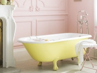 """Who does not want a roll top bath? I yearn for a deep bath to wallow in! I adore deep long soak fest baths. Britain rains all the time! Its a different kind of wet. Happy wallowing """"Pinners"""". xox"""