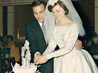 Vintage wedding items and snapshots