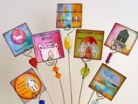 """Lovely, beautiful miniature mixed media works of heart contained within one square inch. Included are ideas for tweenchies, twinchies, rinchies. Check out my """"Nail Art"""" board for ideas and techniques that would also suit this art form."""
