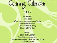 Let's Get Organized/Cleaning Tips