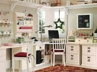 assorted craft rooms that are super organized