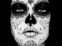 Imagery, recipes, crafts, make-up, and generalized celebration ideas for Día de Los Muertos.