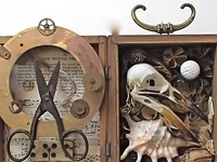 Assemblage Art Is my second passion, tied with Art, in general! From the collecting, to the assembling, and creating these images, and stories through objects! Love!