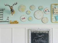 Inexpensive embroidery hoop ideas!