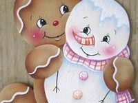 DP Gingerbread & Snowmen Painting Projects