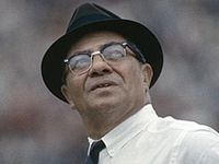 """""""We never lost a game...we just ran out of time."""" - Vince Lombardi"""