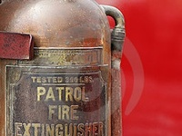 vintage fire buckets and all types of fire extinguishers