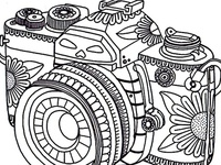 coloring pages/Hand Embroidery/clip art