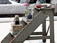 Ladder Love focuses on ladders used in design at home or as a focal point in the garden.  #ladder #repurpose