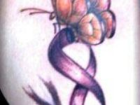 Future Purple Ribbon Tattoo in Support against Alzheimer and Domestic Violence