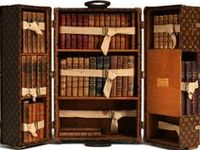 From bookstores and public libraries to those in the gracious home. Including beautifully bound books (for more bookbinding see my Thatcher Wine board.