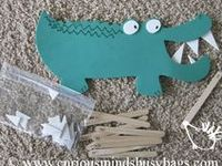 Swamp themed preschool activities including A is for Alligator