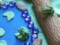 Activities and crafts to teach toddlers and preschoolers about frogs, turtles and other pond life.
