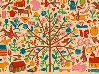 Folk art has been my focus in my art for over 25 years and I am just crazy about the invention and delight that Folk Art Gives !
