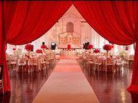 Red & Pewter Gray Wedding